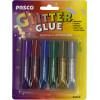 Клей з блискітками Pasco 6 кольорів 6мл (1) (24) (288) №F-001-4(4236)