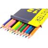 Олівці кольорові 12 кольорів Marco коробка жовто-синя (12) (240) 4100-12CB