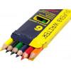 Олівці кольорові 6 кольорів Marco короткі (48) (960) 4100H-6CB