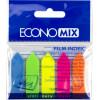 Стікери-закладки Economix 5 неонових кольорів 25 шт Стрілки (24) (48) Е20946