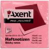 Блок для заміток з липким шаром 75х75мм Axent 100 аркушів рожевий (12) (120) 2314-03