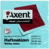 Блок для заміток з липким шаром 75х75мм Axent 100 аркушів синій (12) 2314-04