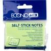 Блок для заміток з липким шаром 50 х75 мм 100 аркушів салатовий Economix (24) E20931-13