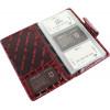 Визитница на 60 визиток Karya лак кожаная красная 008-08