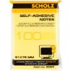 Блок для заміток з липким шаром 51х76мм Sсholz 100 аркушів жовтий (6) (48) 8054Y/5437