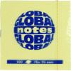 Блок для заміток з липким шаром 75х75мм 100 аркушів yellow GN Global Notes (12) 3654-01