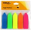 Стікери-закладки Delta by Axent/Axent 12х45 мм стрілка неонові, 5 кольорів 125 шт (1) (40) 2450-02