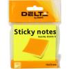 Блок для заміток з липким шаром 75х75 мм 100 аркушів яскраво-жовтий Delta by Axent (1) (24) 3414-11