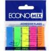 Стікери-закладки Economix 5 неонових кольорів 125 шт (20) (40) Е20945