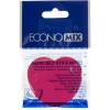Блок для нотаток з липким шаром 45х50мм Economix Серце неоновий асорті 80 аркушів (12) Е20950