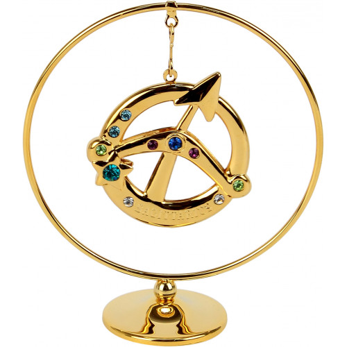 """Сувенир кольцо """"Стрелец"""" (цветной) №0458-105/GA Cristocraft"""