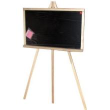Доска для рисования-мольберт деревянная (дуб) маленькая с мелом и губкой 58х40см