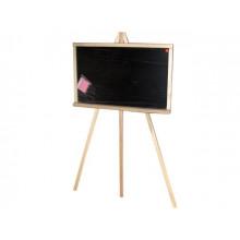 Доска для рисования-мольберт деревянная (дуб) большая с мелом и губкой 65х45см