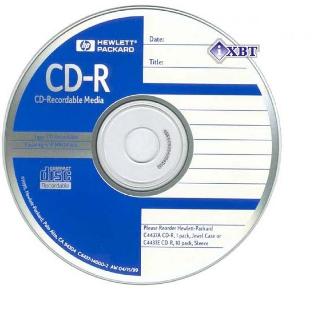 "CD-R ""Hewlett-Pack"" 52x 700mb bulk №2233 (50) (600) printable"