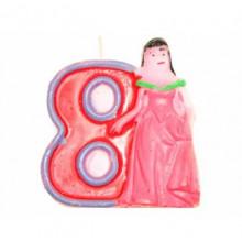 Свічка в торт Цифра-8 Принцеси (12) (480) №HS139