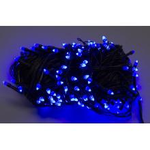 """Гирлянда электрическая """"String"""" Конус 300 LED синий, черный провод L-19 м (60) №1230-02"""