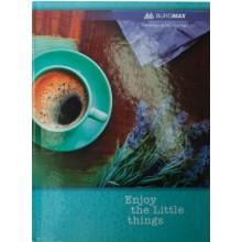 Книга канцелярська А4 96 аркушів лінія Buromax 2401 офсет ламінована тверда обкладинка