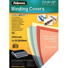 Обложки для брошюрования Fellowes А3 прозрачные 200 мкм (100) №53764