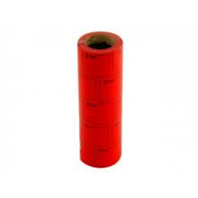 Цінник клейкий в рулоні F 6м Ціна з рамкою 29х36мм червоний (5) (440)