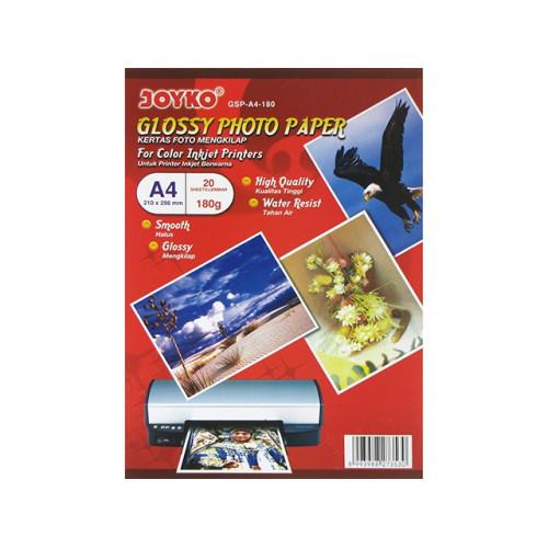 Фотобумага глянцевая Joyko А4 180г/м2 210х298мм GSP-A4-10 20 листов/упаковка