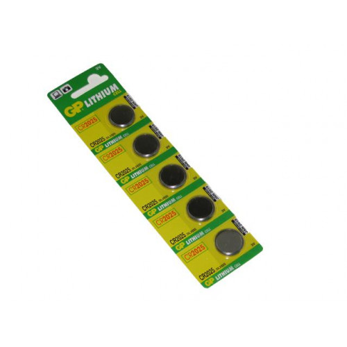 Батарейка GP Lithium Button Cell CR2025-8U5 3.0V/5bl (5) (100)