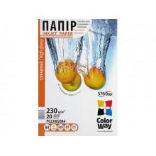 Фотопапір глянцевий CW А4 230г/м2 картонна упаковка (20) PG230-20/PG230020A4/7634