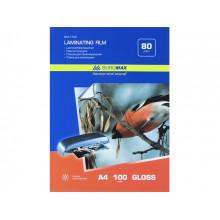 Пленка для ламинирования Buromax А4 80мкм 216х303мм (100) №7723