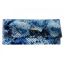 Ключниця Karya жіноча синя, рептилія, шкіра 399-042