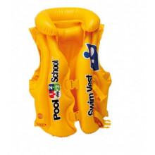 Надувной жилет 50х47см 3-6 лет желтый, в коробке 19х13х4см (24) 58660