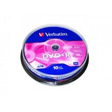 DVD-R 16х4.7Gb/120min Verbatim штырь (10)