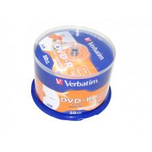 DVD-R 16х4. 7Gb/120min Verbatim штырь printable матовый (50)