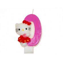 """Свеча """"Hello Kitty-0"""" 12 шт. A09 (600)"""