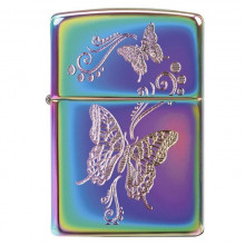 Зажигалка подарочная кремниевая бензиновая Zippo 151 Butterflies 28442 в коробке