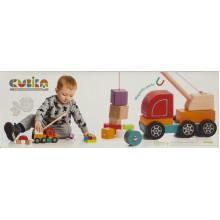 Игрушка деревянная Машинка Авто-кран Cubika №13982