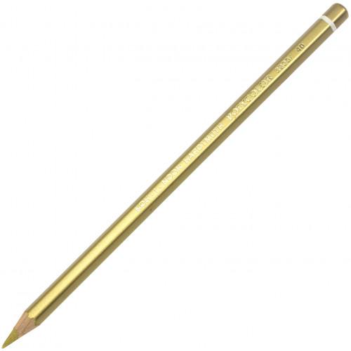 Олівець кольоровий Koh-i-noor Polycolor художній standard gold/золотий стандартний (12) 3800/40