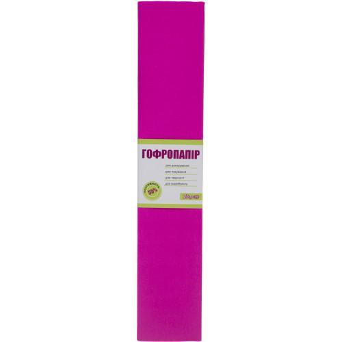 Папір-гофра 5 55% 26,4г/м2 2мх50см 1 Вересня 701518 темно-рожевий