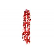 Ожерелье новогоднее пластиковое 14 ммх2,7 м красное(96) /Bonadi/ №147-709