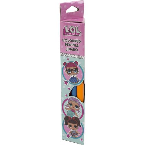 Олівці кольорові 6 кольорів Yes Lol Sweety Jumbo (24) 290570