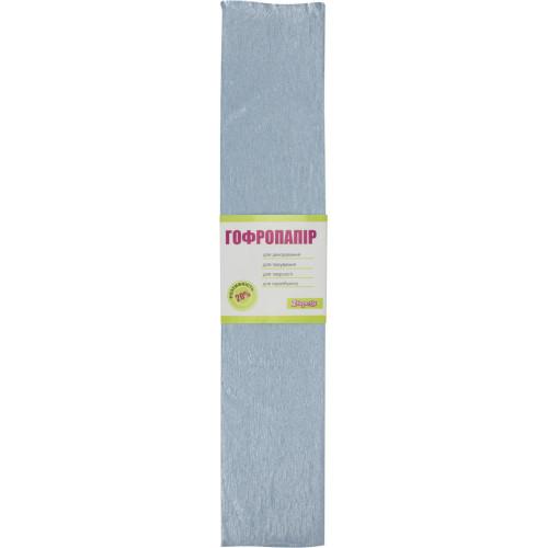 Папір гофра 20% 2мх50см 1 Вересня перламутровий блакитний 705423
