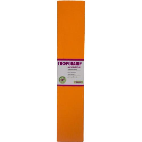 Папір гофра 2мх50см 20% 1 Вересня  флуоресцентний помараневий (10) 705398
