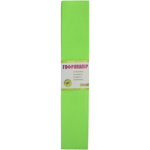 Папір гофра 2мх50см 20% 1 Вересня флуоресцентний салатовий (10) 705402