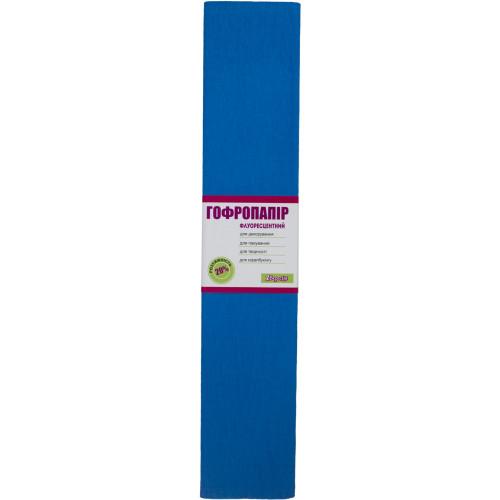 Папір гофра 2мх50 см 20 % 1 Вересня флуоресцентний синій (10) 705409