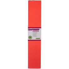 Бумага гофра 2мх50см 20% 1 Вересня  флуоресцентная темно-оранжевая (10) №705396