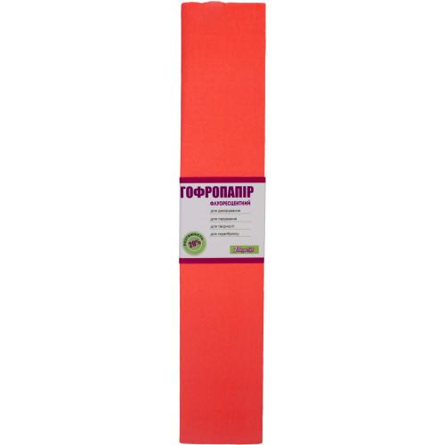 Папір гофра 2мх50см 20% 1 Вересня  флуоресцентний темно-помараневий (10) 705396