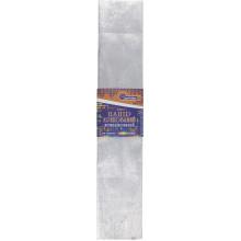 Бумага гофра 2мх50 см 30% 60г/м2, 78г/м2 металлик серебристая (10) (200) №KRM-8060