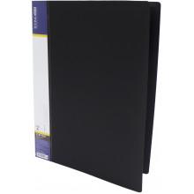 Папка-усы Economix CLIP A Light A4 пластиковая с 1 карманом черная (1) (20) (120) №E31207-01