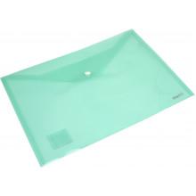Папка-конверт Axent А4 на кнопке зеленая (12) (240) 1402-25