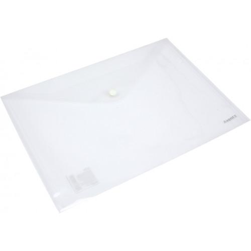 Папка-конверт Axent 1402-27 А4 на кнопці прозора