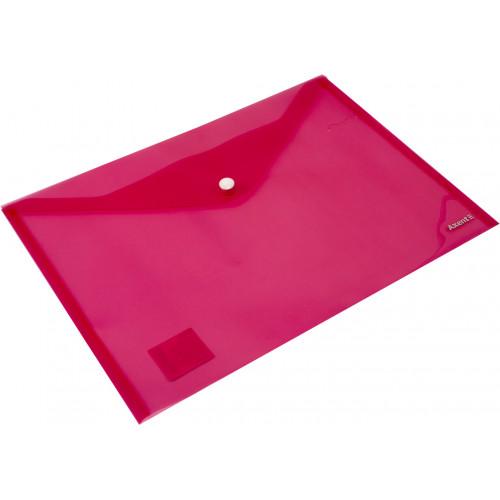 Папка-конверт Axent А4 на кнопці червона (12) (240) 1402-24