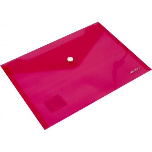 Папка-конверт Axent А5 на кнопці, червона (12) 1522-24-А